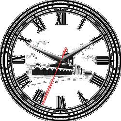 Đồng hồ gỗ tròn Tictac - Chợ Bến Thành
