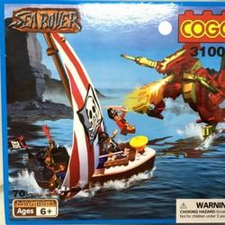 ráp hình khối, xếp hình khối, tàu cướp biển gồm 70 miếng đẹp như Lego