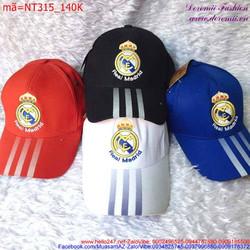 Nón lưỡi trai Real Madrid thể thao năng động cá tính NT315