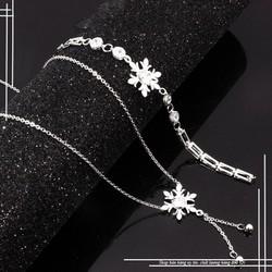Bộ trang sức inox hoa tuyết đính xào cao cấp