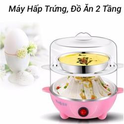Nồi máy hấp trứng đa năng mini inox 2 tầng giá rẻ