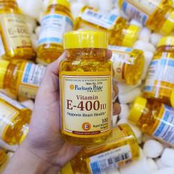 Viên uống bổ sung Vitamin E Puritans Pride Vitamin E400 IU 100 viên