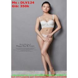 Sét bộ đồ lót nữ cúp ngang tạo vòng 1 quyến rũ DLV124