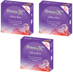 Bộ 3 hộp bao cao su True-X Ultra Thin