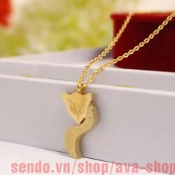 Dây chuyền nữ con cáo phun cát màu vàng