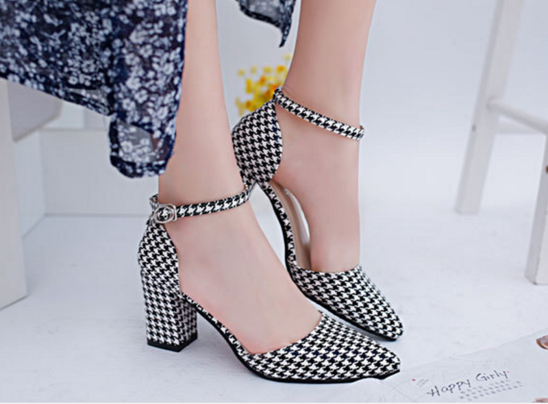 Giày cao gót đế vuông 7,5CM 2