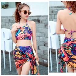 Đồ bơi nữ, bộ đồ bơi kín đáo, đồ bơi yếm, bikini phong cách Hàn