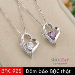dây chuyền s925 trái tim đính đá sang trọng thời trang SN-LM1218