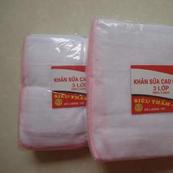 Khăn sữa siêu thấm HS đỏ 3 lớp 10 chiếc