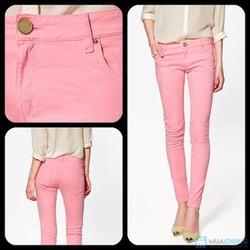 skinny hồng pastel