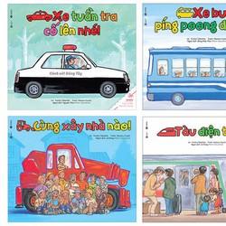 Trọn bộ 4 cuốn Ehon Nhật Bản về các phương tiện giao thông