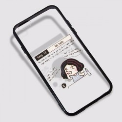 Ốp lưng iPhone 6 Plus hiệu iSen viền đen mẫu 11. MUA 1 TẶNG 1