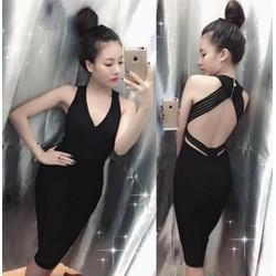 Đầm body sexy hở lưng