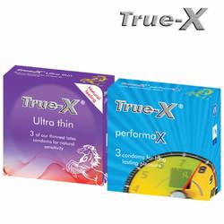 Bộ 2 hộp bao cao su True-X PerformaX3 + Ultra Thin