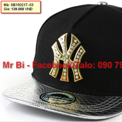 Nón Snapback, Hiphop logo NY kim loại cực cá tính, nón đẹp giá rẻ