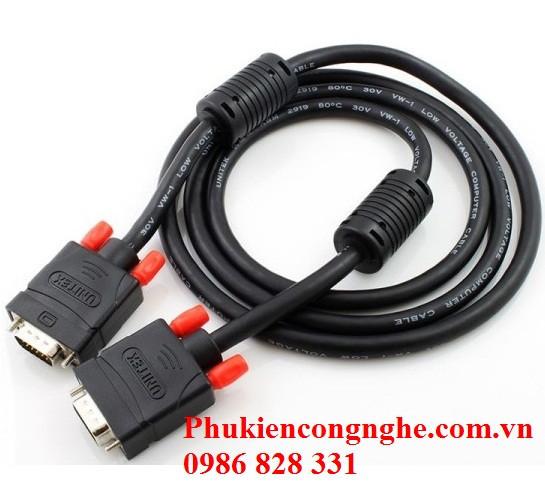 Cáp VGA 1.5m chính hãng Unitek Y-C503A 2