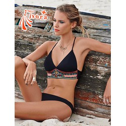 Bikini 2 mảnh viền áo thổ cẩm