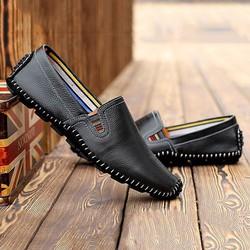 Giày mọi nam thời trang da thật LT930- màu đen
