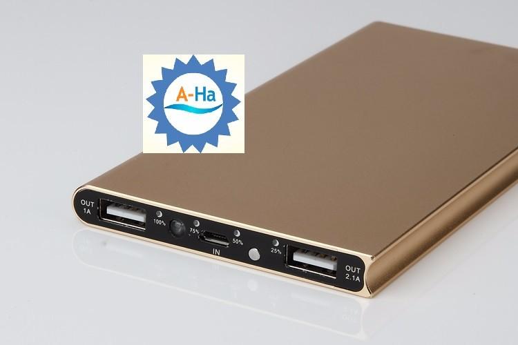 Pin sạc dự phòng siêu mỏng vỏ nhôm nguyên khối Power Bank 1