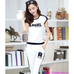 Bộ quần áo thể thao lửng thiên thần đáng iu tSETT33