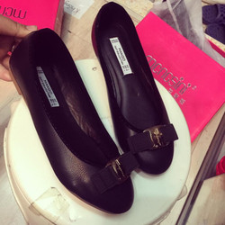 giày bệt nơ da mềm cao cấp ảnh thật đi êm chân thoải mái