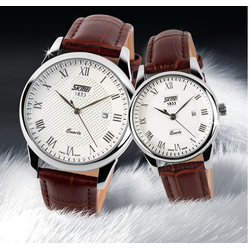 Đồng hồ cặp SKMEI nữ dây da cổ điển SK005 269k cái