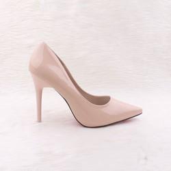 giày cao gót louboutin da bóng, gót đũa
