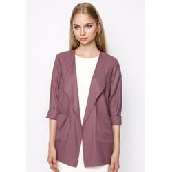 Áo khoác blazer nữ màu hồng ghi