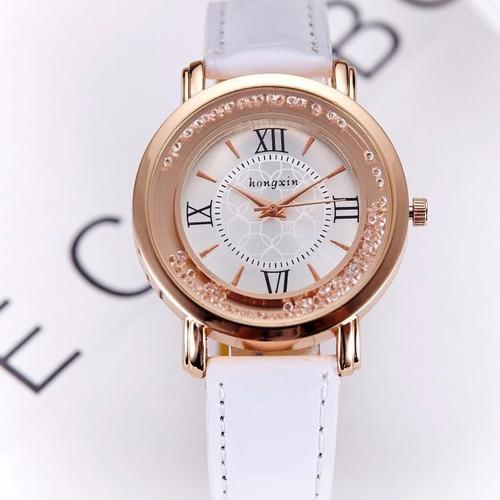 Đồng hồ nữ mặt đá xoay HongXin SP688
