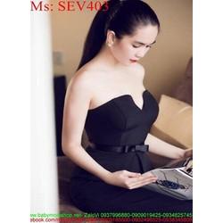 Sét áo kiểu cúp ngực và chân váy bút chì sang trọng SEV403
