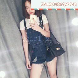 quần yếm short jeans