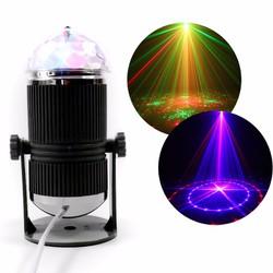 đèn led xoay 7 màu hình trụ cảm ứng nhạc