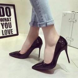 giày cao gót mũi nhọn cao 10cm
