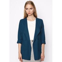 Áo khoác blazer nữ màu xanh