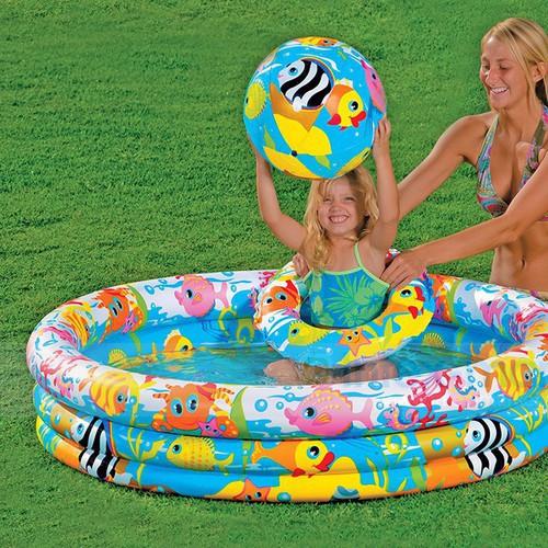 Bộ hồ bơi intex 3 món 59469. hồ 132x28cm + phao + bóng