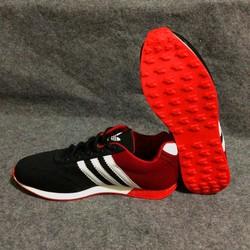 Giày AD đen đỏ sọc trắng
