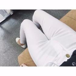 quần kaki dài lưng cao