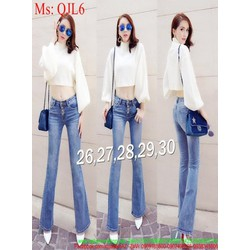 Quần jean nữ dài kiểu ống loe hàng thái cao cấp QJL6 View 390,000