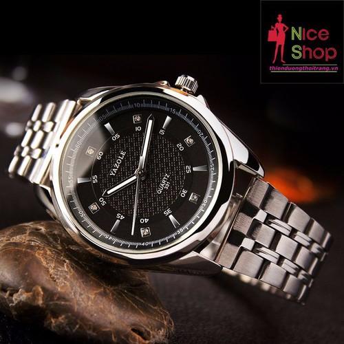 Đồng hồ dây thép  nam Yazole phong cách công sở - DHK081
