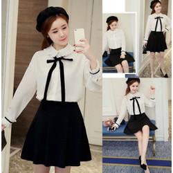 Set áo sơ mi nữ và chân váy công sở cao cấp - hàng nhập Quảng Châu