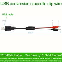 Cáp chuyển USB đầu đực sang kẹp cá sấu