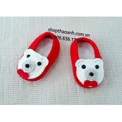 Giày len móc handmade size 6 tháng - 9 tháng