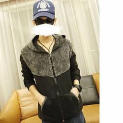 áo khoác lông phối nón Mã: NK0989 - ĐEN