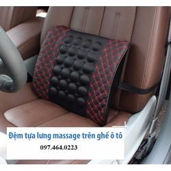 Tựa Lưng Massage Oto-Sọc Đen Đỏ