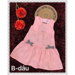 Đầm đuôi cá thêu hoa nổi đáng yêu cho bé 1-8 tuổi