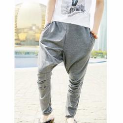 quần dài đáy thụng túi dây kéo Mã: ND0868 - XÁM