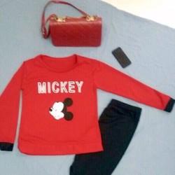 Bộ tay dài in Mickey