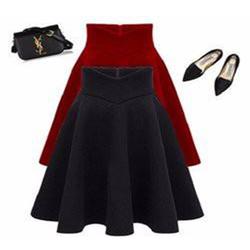 Chân váy xòe xếp ly nữ thời trang