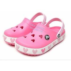 Dép sục Crocs. band mickey trẻ em màu hồng