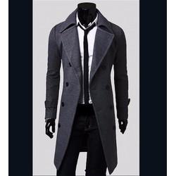 áo khoác măng tô hàn quốc Mã: NK0606 - XÁM